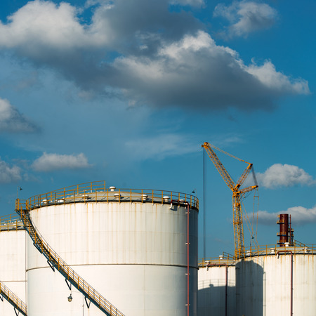 petrolium: Petrochemical plant with blue sky Editorial