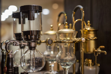 siphon: Coffee siphon POTS on the shelf