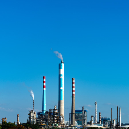 Petrochemical plant with blue sky Editorial