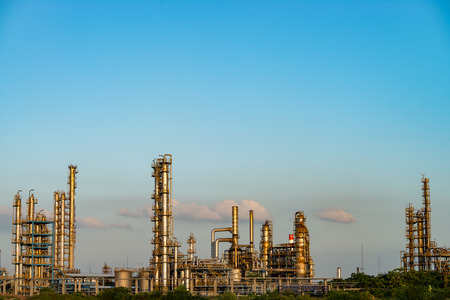 petrochemical: Petrochemical plant with blue sky Editorial