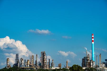 petrolium: Petrochemical plant with blue sky Editorial