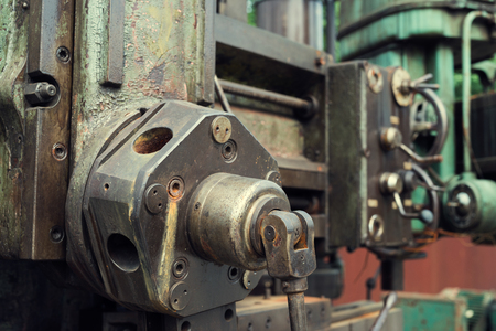 Machinery in the old industrial machinery Banco de Imagens