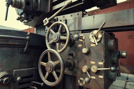 corroded: Machinery in the old industrial machinery Stock Photo