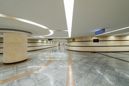 the underground passage in modern city