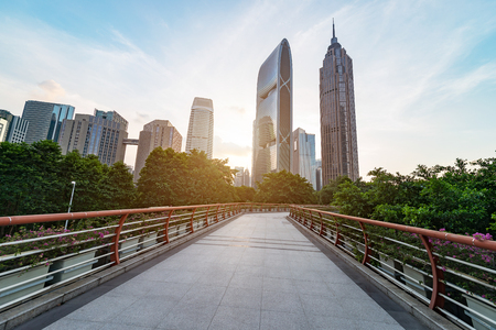 Modern architecture,Guangzhou China Stock Photo