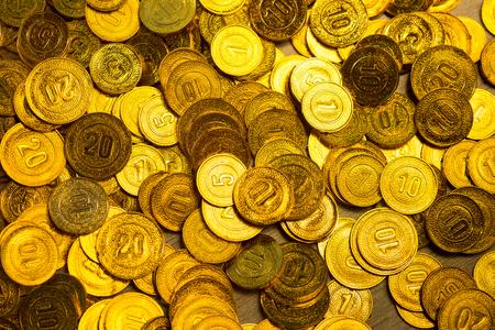 encash: Group of gold coins business money