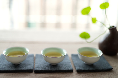 Photo in the room Chinese tea ceremony Stock Photo