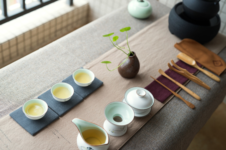 部屋中国茶道の写真
