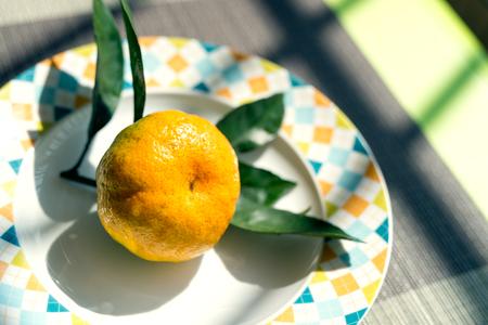The oranges in the fruit bowl 版權商用圖片