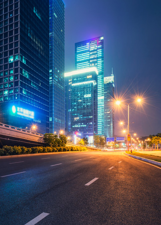city night scenes at shenzhen,china