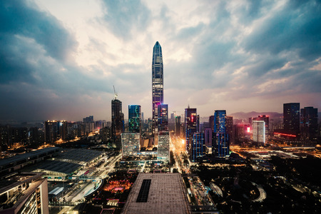 cityscape in the shenzhen,china Standard-Bild