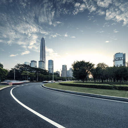 carriageway: Asphalt pavement urban road at city