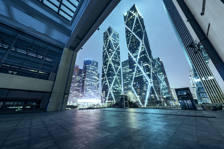 interior of Modern Architecture at china Stock Photo