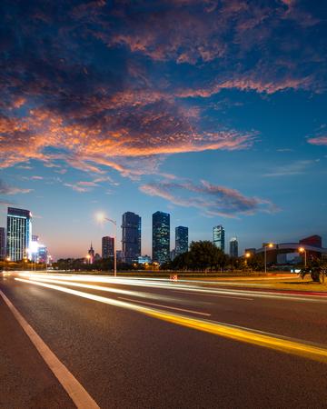 outdoor lighting: Urban Roads in the city