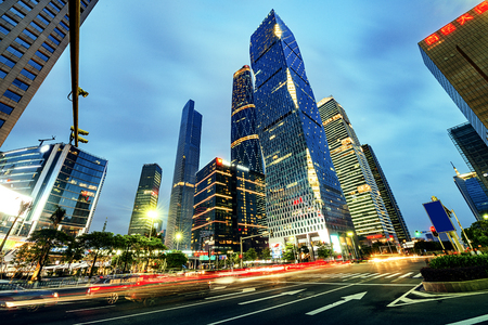 thoroughfare: The road in the city of shenzhen,china