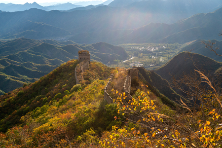 great wall in China 스톡 콘텐츠