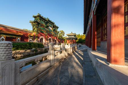 Ancient Chinese architecture at beijing Sajtókép
