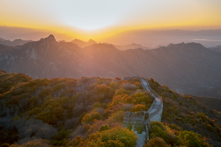 landscape of the great wall in beijing,China Reklamní fotografie