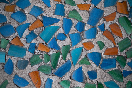 The textured background of the tile floor Stock Photo