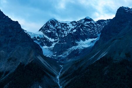 Landscape view of mountains and hills in Tibet