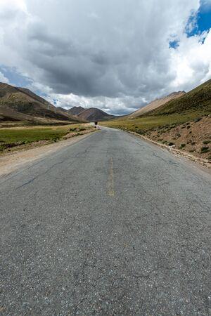 Road in tibet plateau