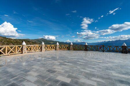 The viewing platform in Tibet