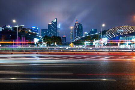 The urban traffic at shenzhen city of china