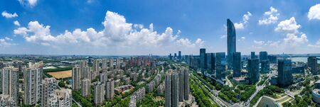 Aerial view of the suzhou city