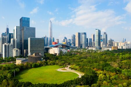 Drone aerial photo of the city of shenzhen, China Stock fotó