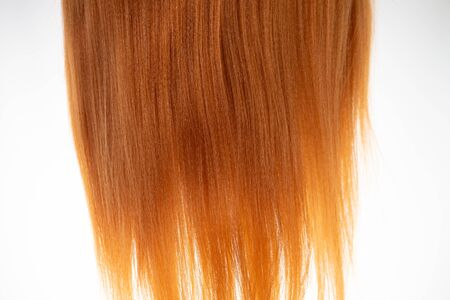 Close-up of yellow hair material Фото со стока