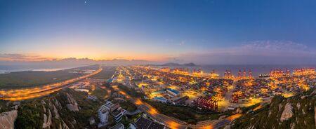 port of shanghai yangshan at dusk Reklamní fotografie