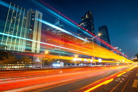 Le trafic urbain à la ville de Shenzhen en Chine