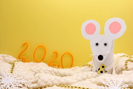 The mouse is a symbol of The new year 2020 according to the Chinese calendar. Happy New Year.