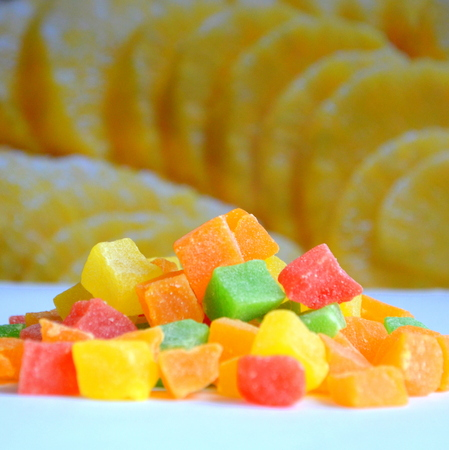 candied: Candied pineapple