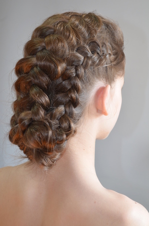 underlying: Hairstyle with French braids