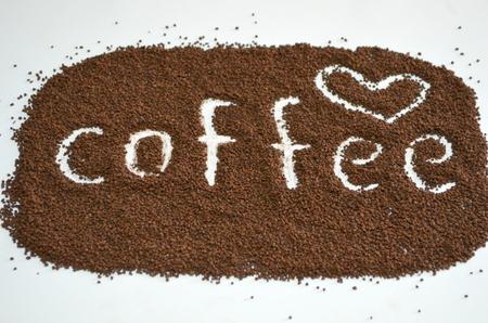 Granulated coffee photo