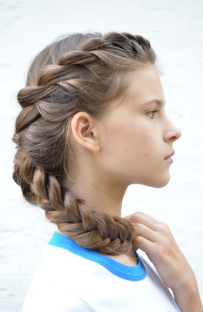 originative: hairstyle Stock Photo