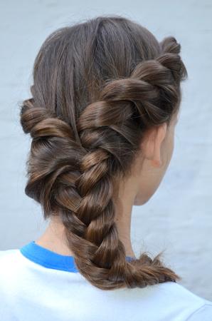 originative: hairstyle Stock Photo