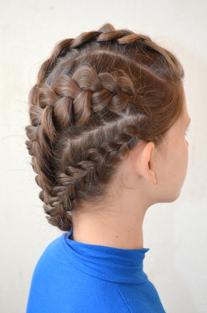 originative: Hairstyle with French braids