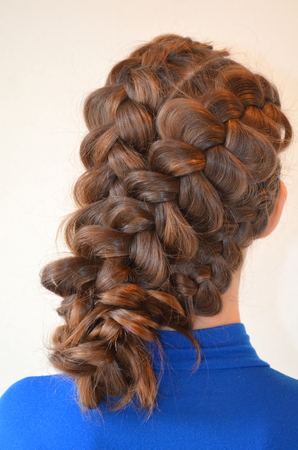 braids: Hairstyle with French braids