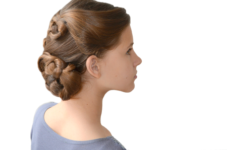 originative: Girl with hairstyle of long hair