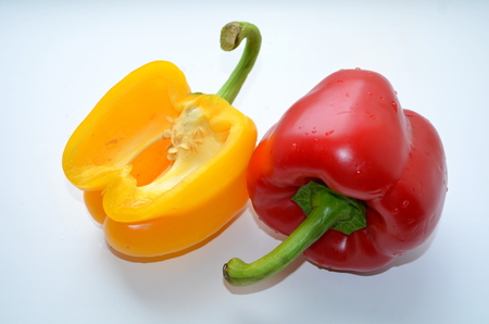 flatulence: Red and yellow peppers juicy