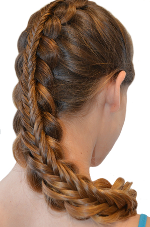 light hair: Hairstyle with long hair