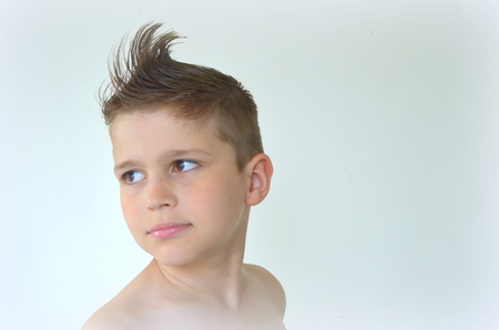 mohawk: Boy with mohawk hairstyle