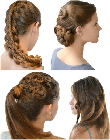 originative: Collage - hairstyle with long hair