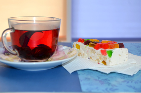 Tea, Hibiscus and eastern sweets