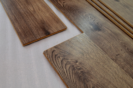Installing Laminate Flooring Stock Photo Picture And Royalty Free