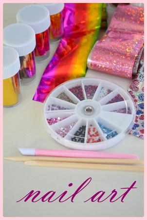 Foil for nail design, set decoration