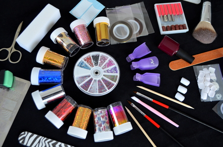 Nail grooming tool images stock pictures royalty free nail foil for nail design set decoration prinsesfo Images