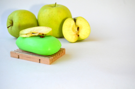 Apple soap Lizenzfreie Bilder